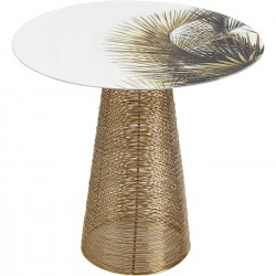 Table d'appoint Charme palmiers 40cm Kare Design