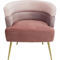 Fauteuil Sandwich velours rose Kare Design