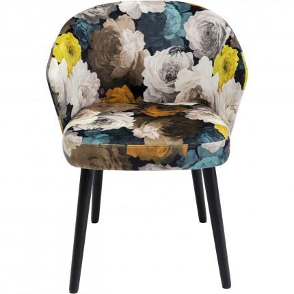 Chaise avec accoudoirs Pivoines jaunes Kare Design
