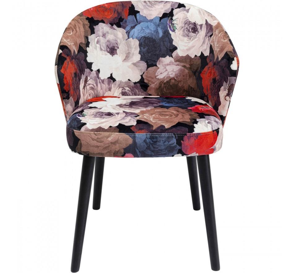 Chaise avec accoudoirs Pivoines rouges Kare Design