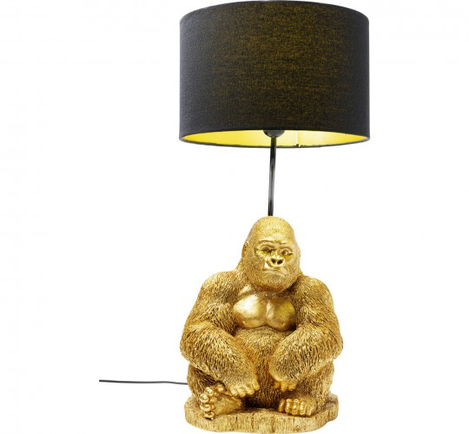 Lampe de table gorille doré Kare Design