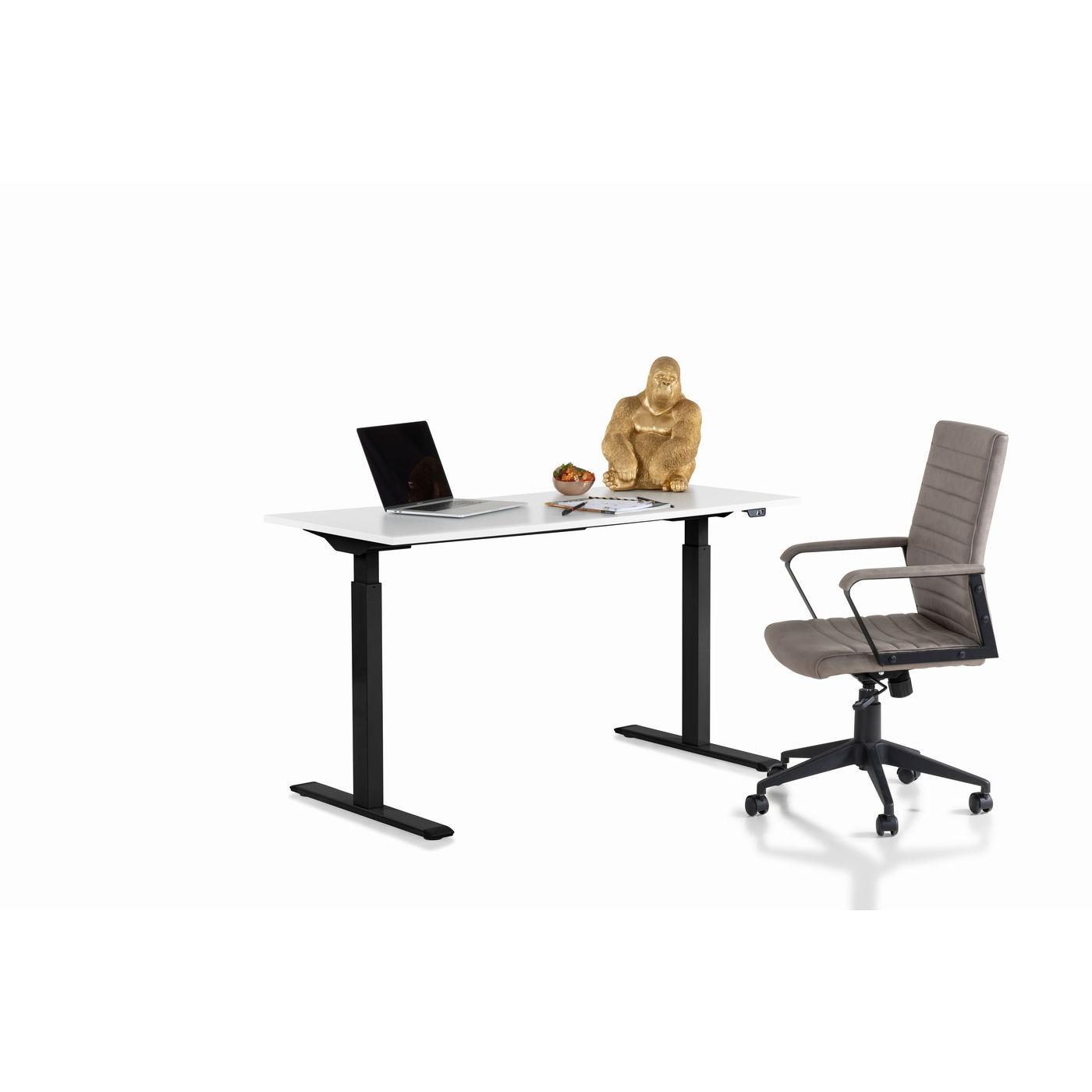 Bureau Smart blanc et noir 140x60cm Kare Design