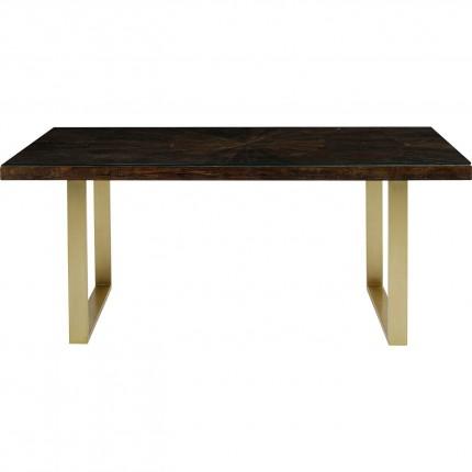 Table Conley pieds laiton 180x90cm Kare Design