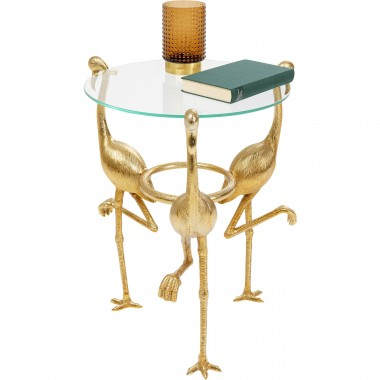 Table d'appoint flamants dorés Kare DesignDesign