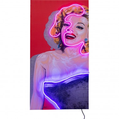 Tableau Touched Idol Marilyn Neon 80x160cm Kare Design