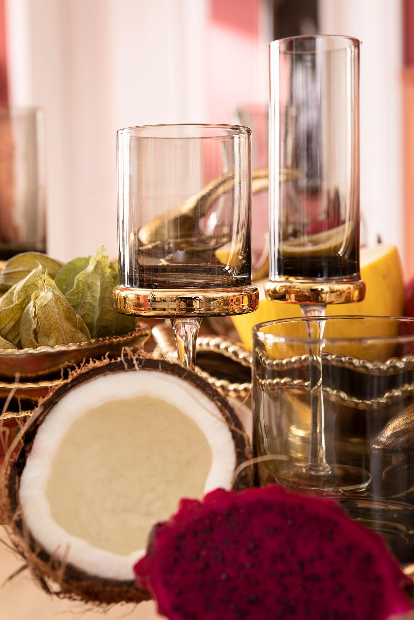 Flûtes à champagne Innocent fumé set de 4 Kare Design