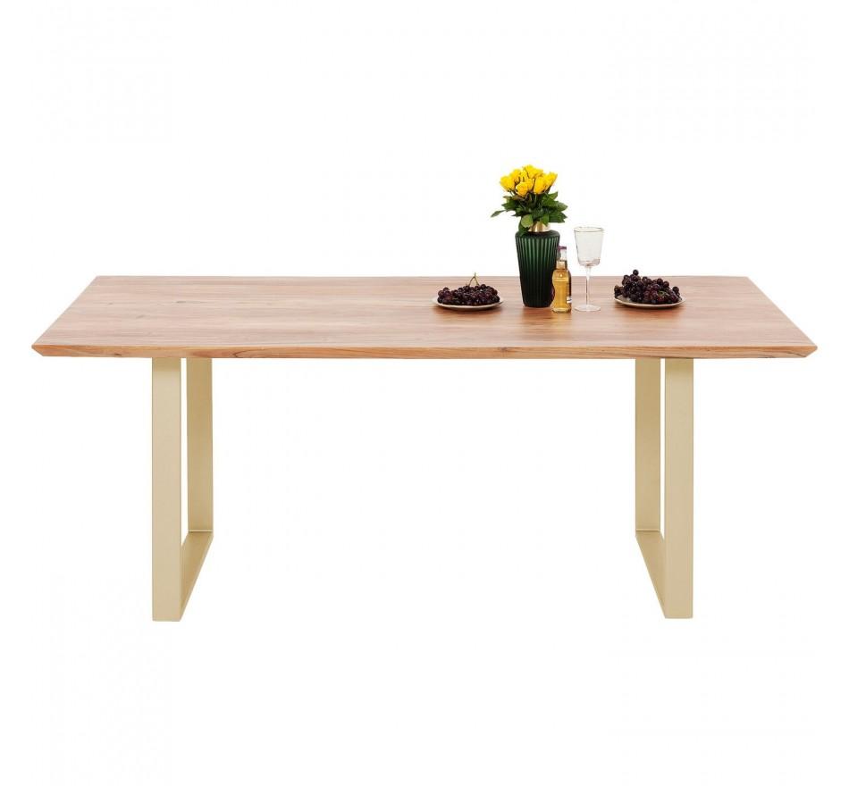 Table Symphony acacia laiton 160x80cm Kare Design