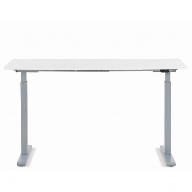 Bureau Smart blanc et chrome 140x60cm Kare Design