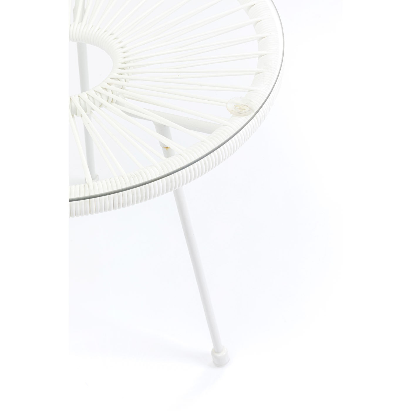 Table d'appoint Acapulco 50cm blanche Kare Design