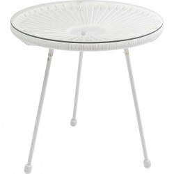 Table d'appoint Acapulco blanche Kare Design