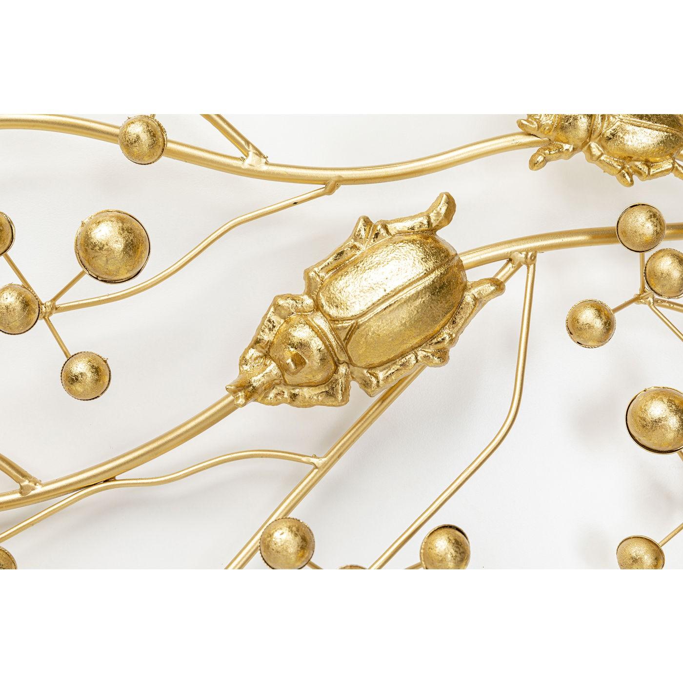 Portemanteau mural scarabées dorés Kare Design
