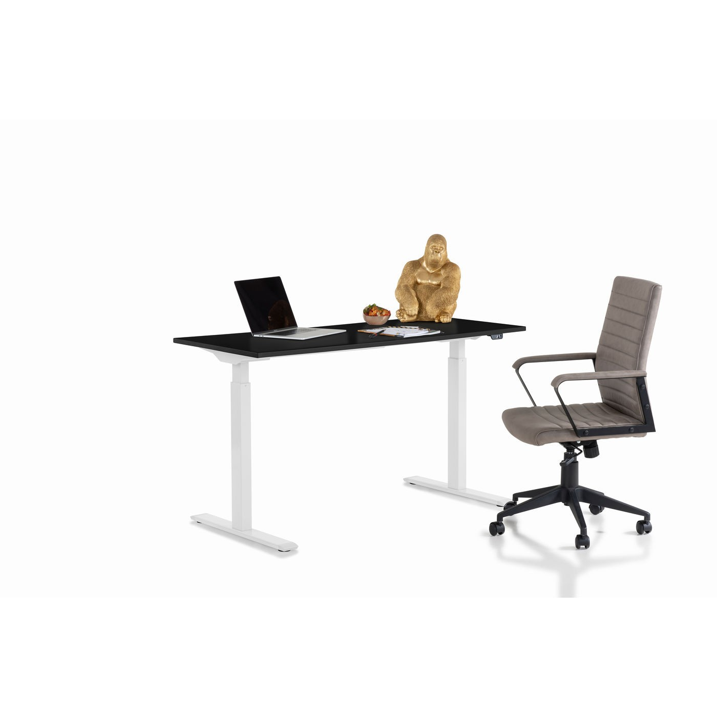 Bureau Smart noir et blanc 140x60cm Kare Design