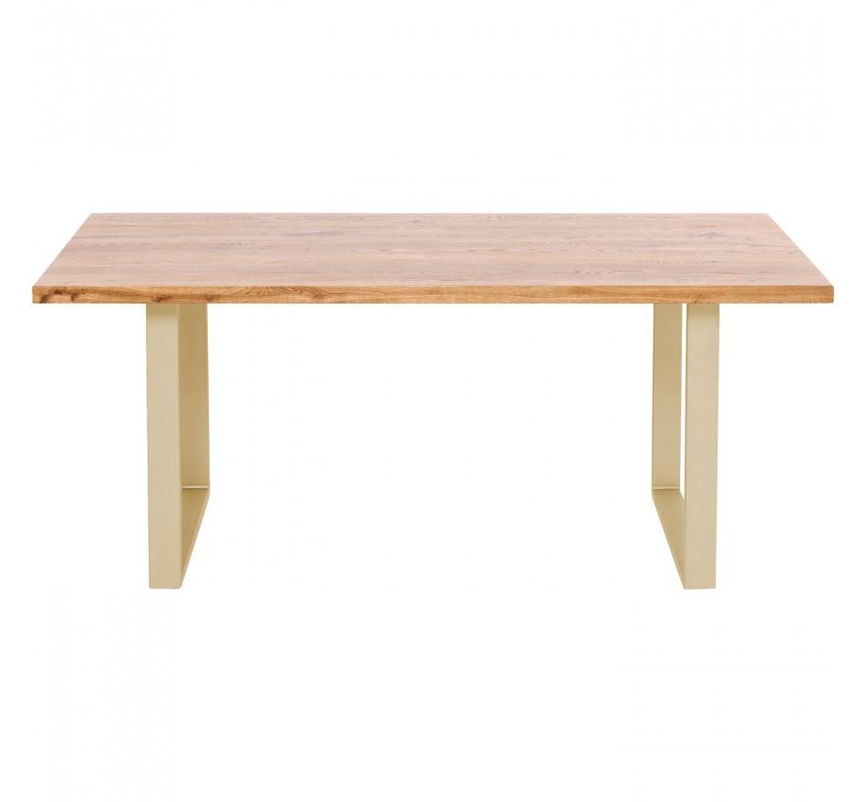 Table Jackie chêne laiton 160x80cm Kare Design