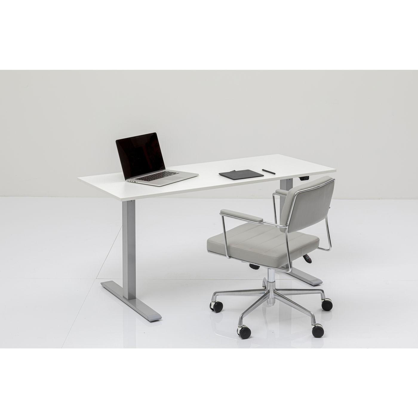 Bureau Smart blanc et chrome 160x80cm Kare Design