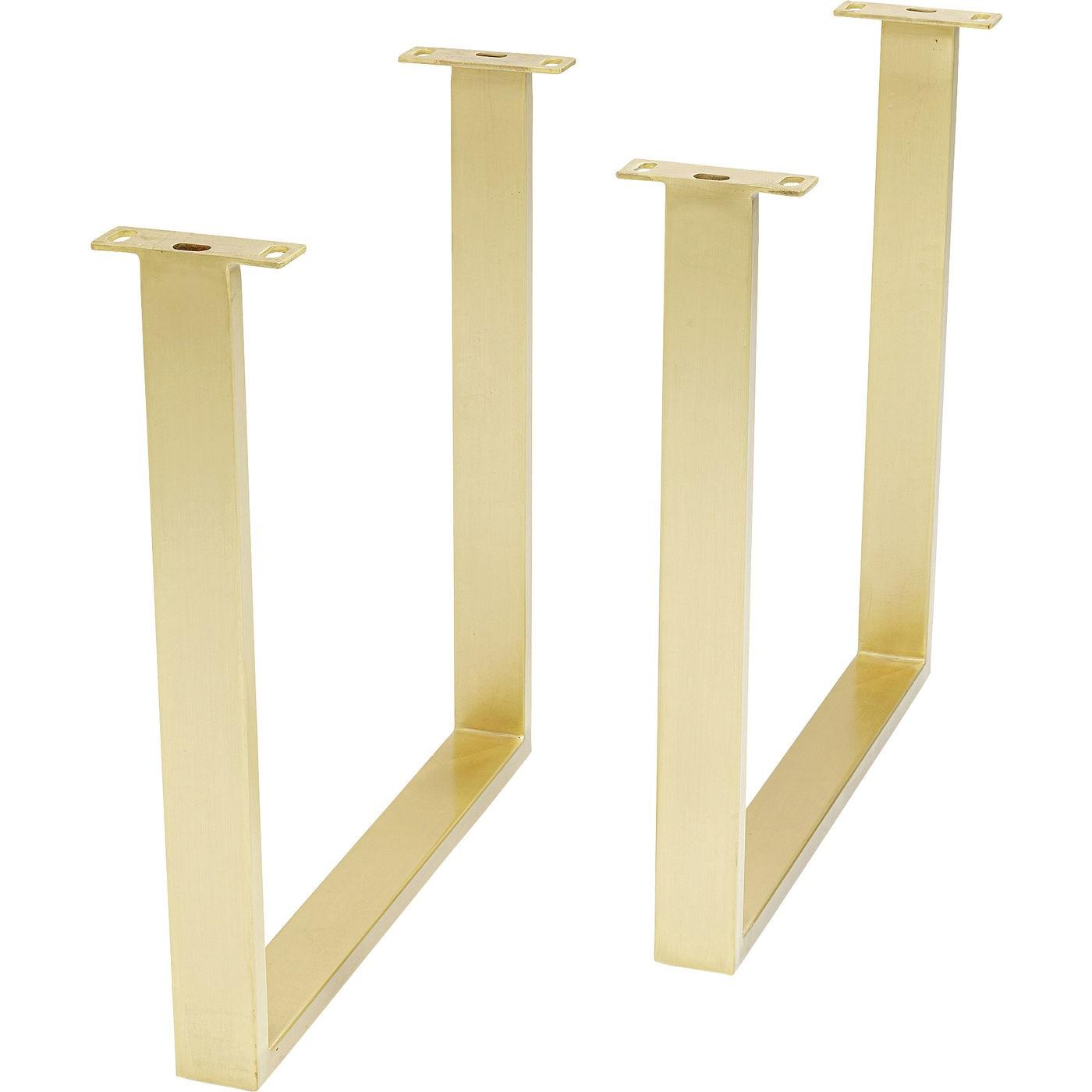 Table Symphony chêne laiton 200x100cm Kare Design