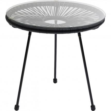 Table d'appoint Acapulco noire Kare Design