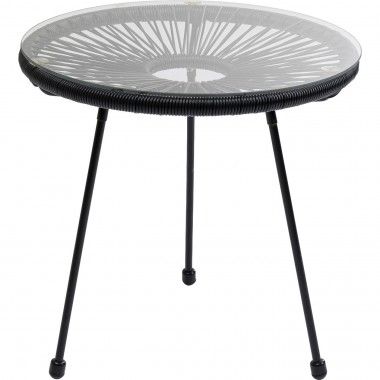 Table d'appoint Acapulco noire Kare Design