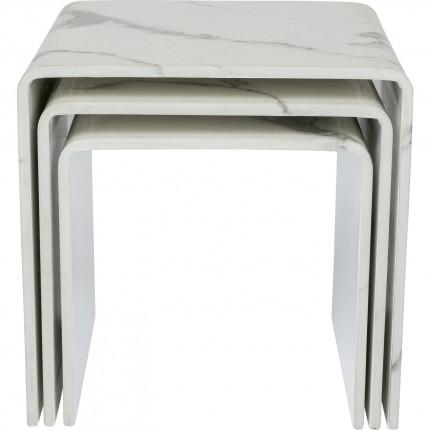 Tables d'appoint Moonraker set de 3 Kare Design
