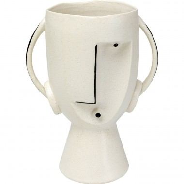 Vase Face Pot 30cm Kare Design