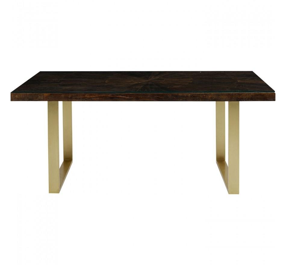 Table Conley pieds laiton 160x80cm Kare Design