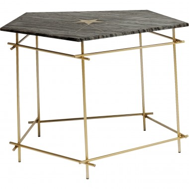 Table d'appoint Mystic Pentagon grise 52cm Kare Design
