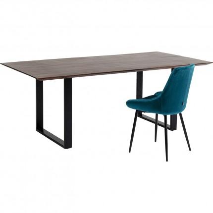 Table Symphony noyer noir 200x100cm Kare Design