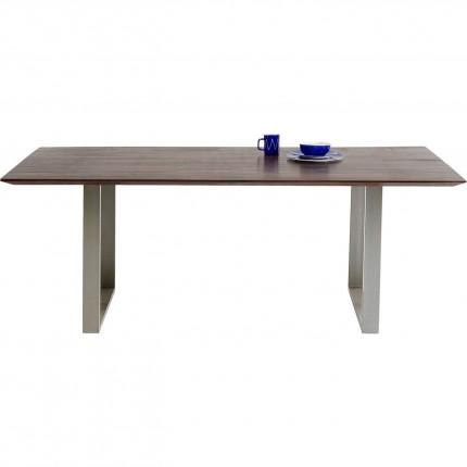 Table Symphony noyer argent 200x100cm Kare Design