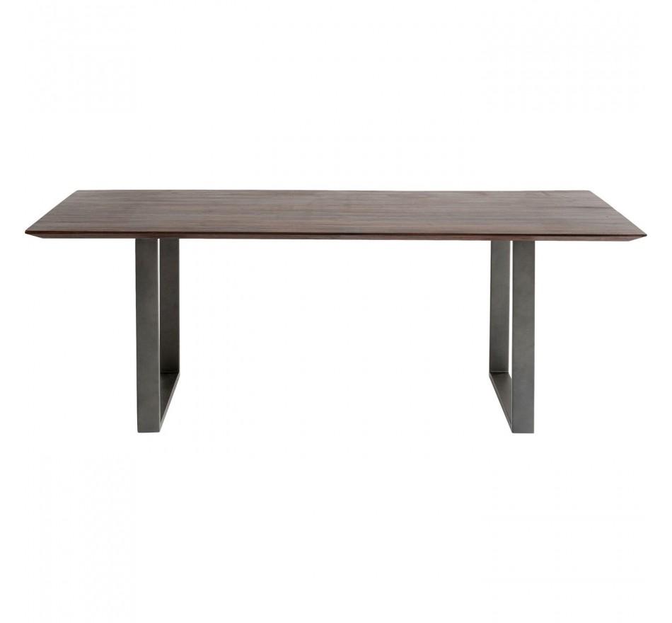 Table Symphony noyer acier 160x80cm Kare Design