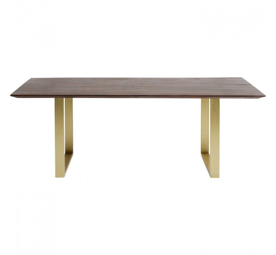 Table Symphony noyer laiton 200x100cm Kare Design
