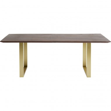 Table Symphony noyer laiton 200x100cm Kare Design