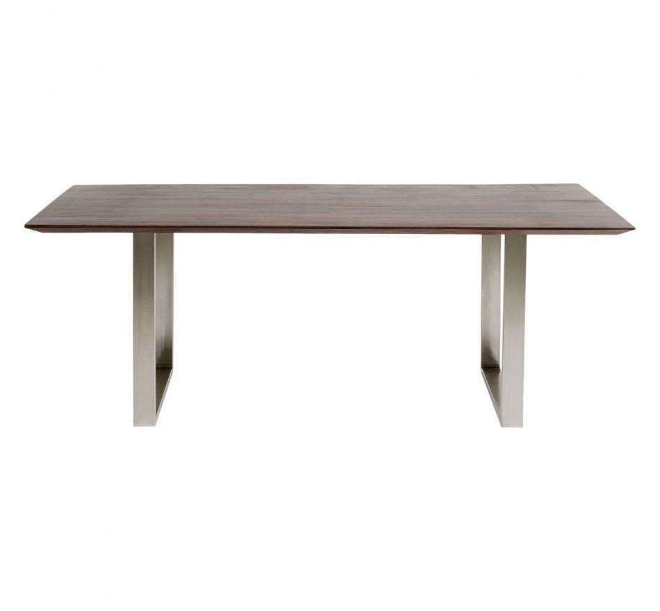 Table Symphony noyer chrome 160x80cm Kare Design