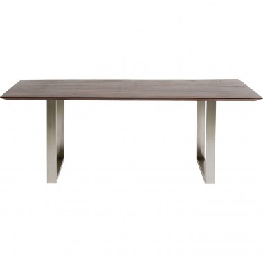 Table Symphony noyer chrome 160x80cm Kare Design