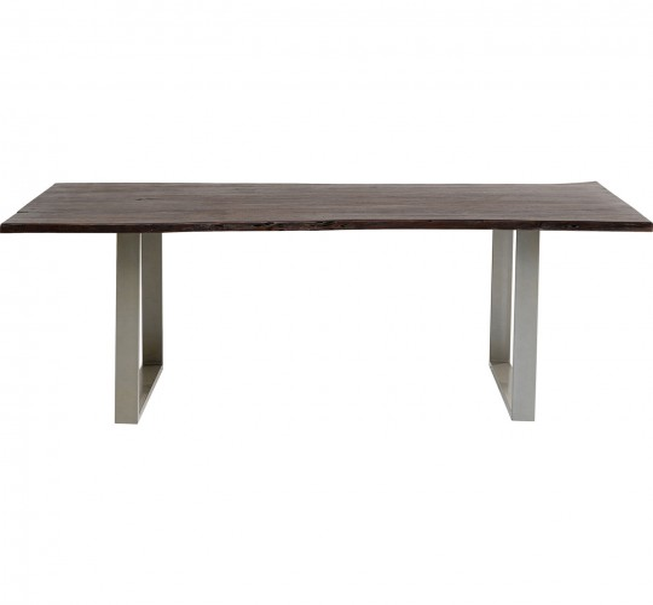 Table Harmony noyer argent 180x90cm Kare Design