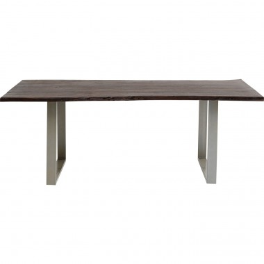 Table Harmony noyer argent 180x90cm Kare Design