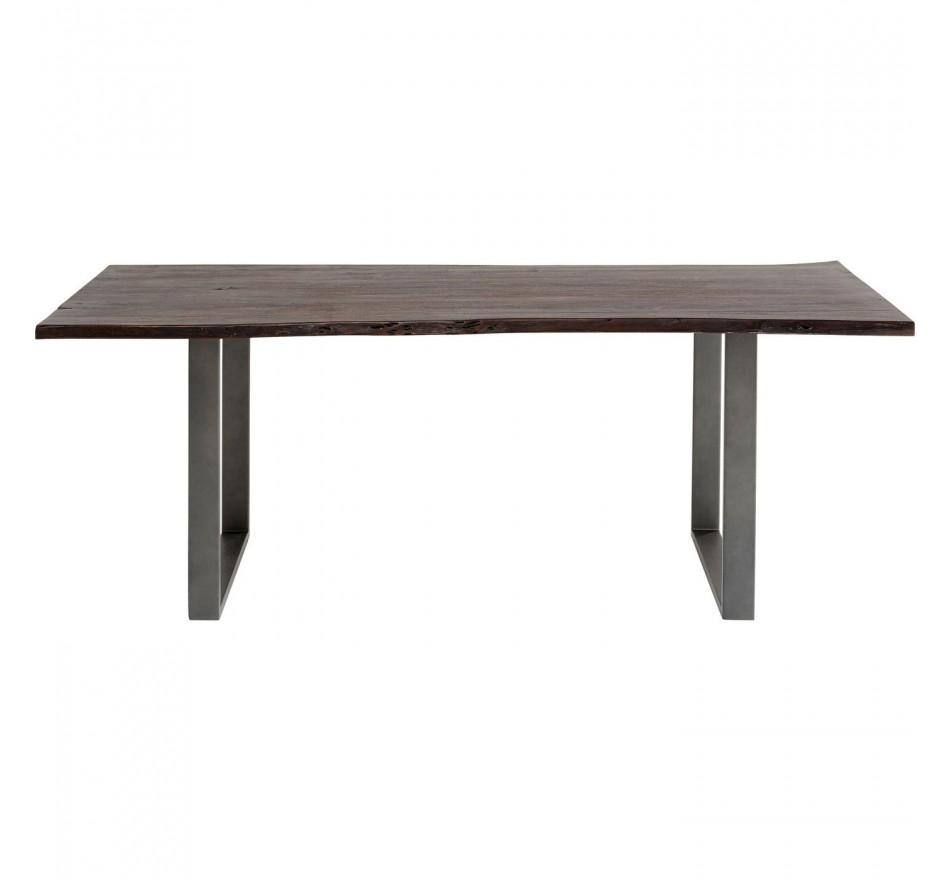 Table Harmony noyer acier 200x100cm Kare Design