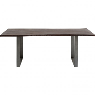 Table Harmony noyer acier 180x90cm Kare Design