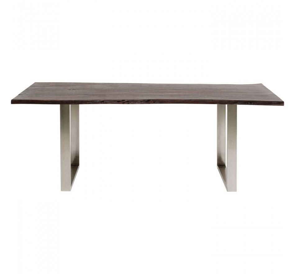 Table Harmony noyer chrome 160x80cm Kare Design