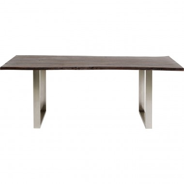 Table Harmony noyer chrome 160x80cm Kare Design