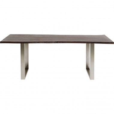 Table Harmony noyer chrome 180x90cm Kare Design