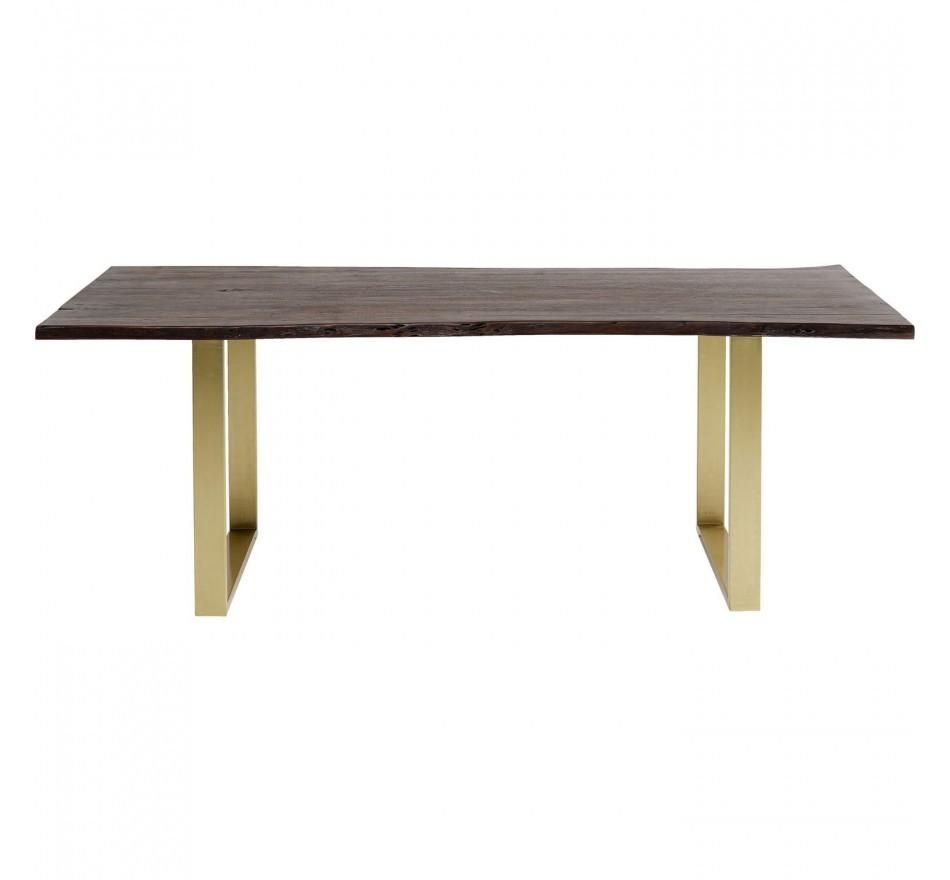 Table Harmony noyer laiton 200x100cm Kare Design