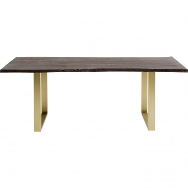 Table Harmony noyer laiton 200x100cm Kare Design