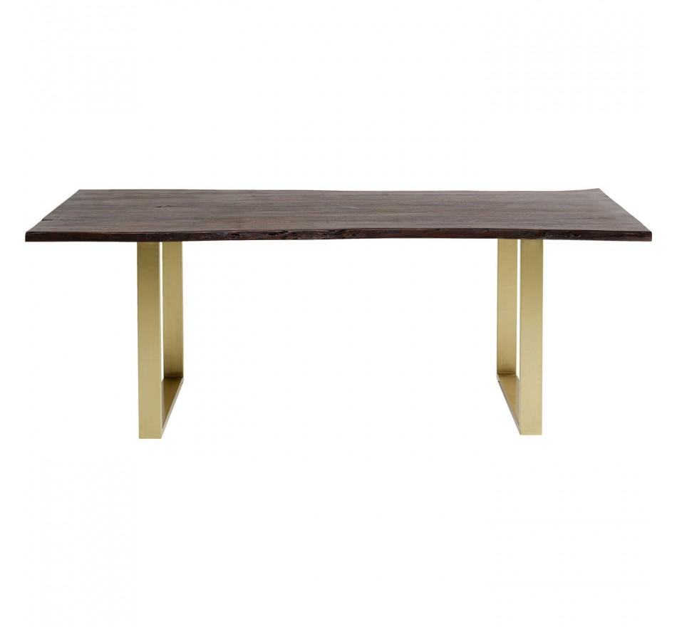Table Harmony noyer laiton 160x80cm Kare Design