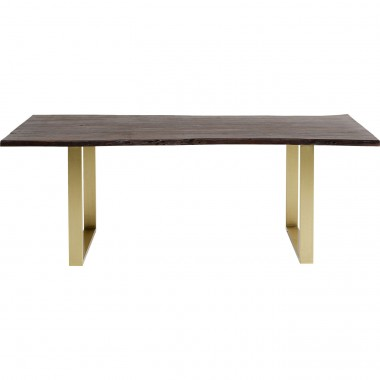 Table Harmony noyer laiton 160x80cm Kare Design