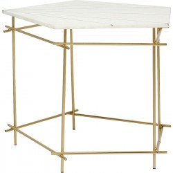 Table d'appoint Mystic Pentagon blanche 52cm Kare Design
