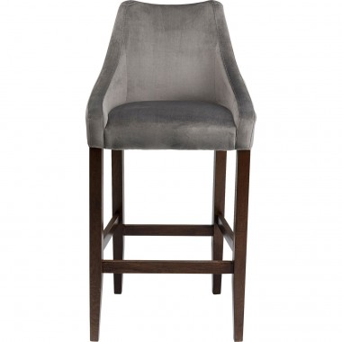 Tabouret de bar Mode velours gris Kare Design