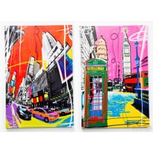 Tableau Pop Art Cities 60X40cm ass. Kare Design