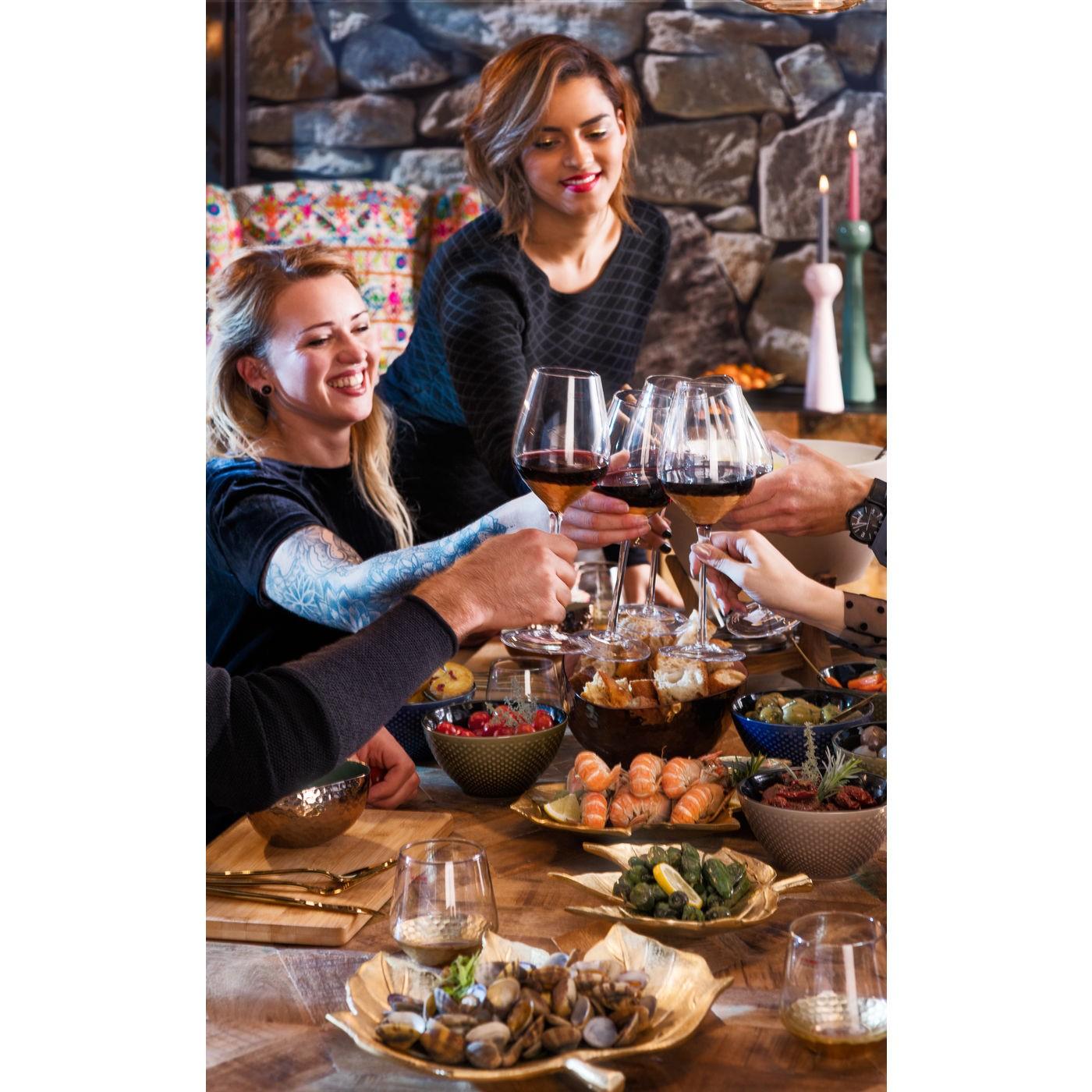Verres à vin rouge Gobi set de 6 Kare Design