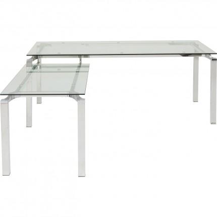 Bureau d'angle en verre Lorenco Kare Design