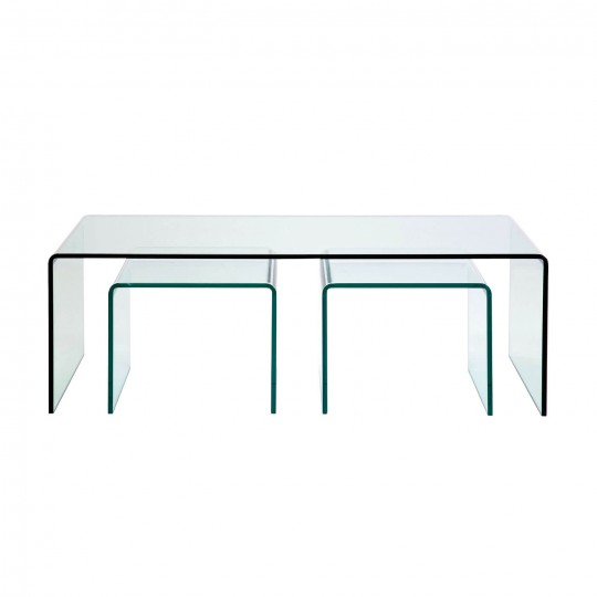 Table Basse Contemporaine En Verre Clear Club Kare Design