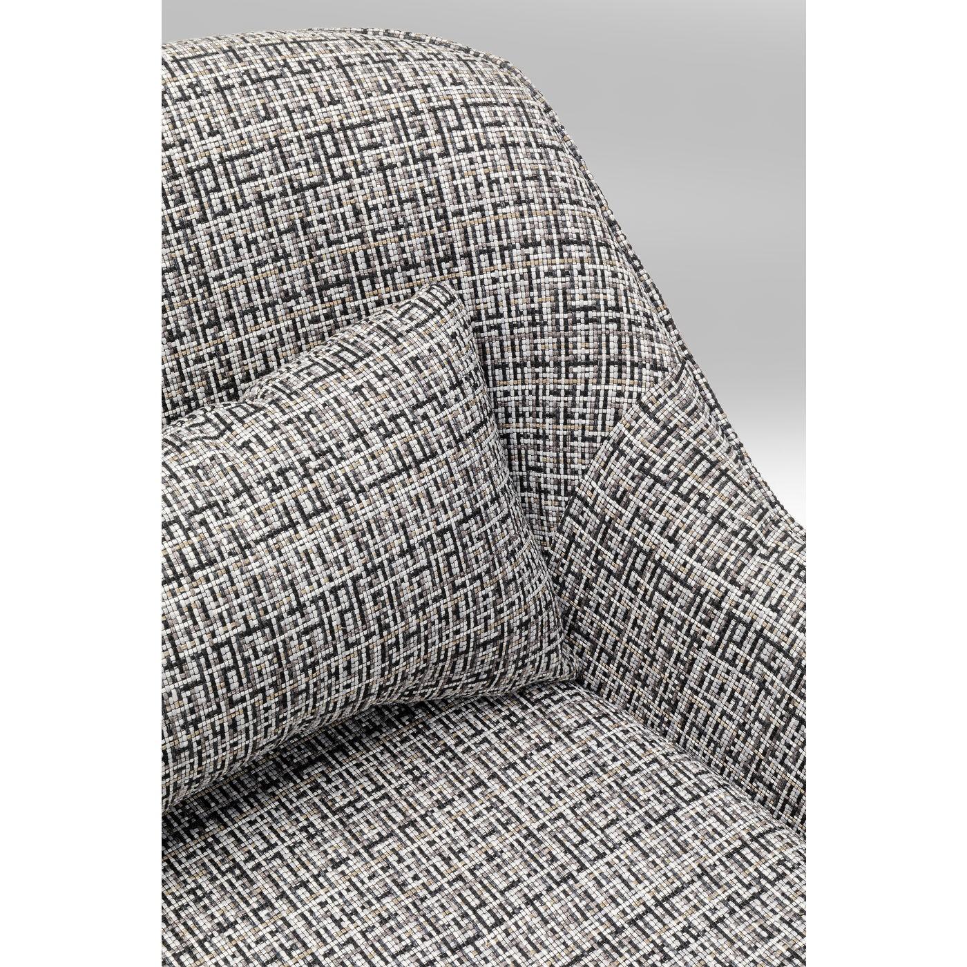 Fauteuil pivotant Iceland noir et blanc Kare Design